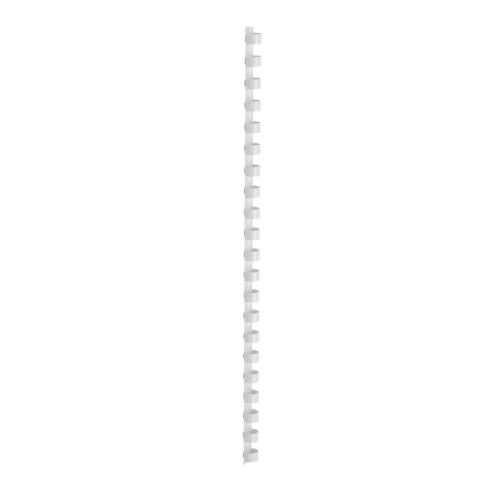 5 Star Office Binding Combs Plastic 21 Ring 65 Sheets A4 10mm White [Pack 100]