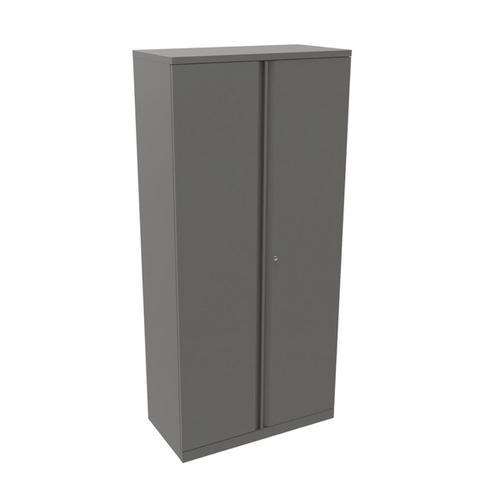 Bisley Two Door Steel Storage Cupboard 914x470x1970-1985mm Grey Ref YECB0919
