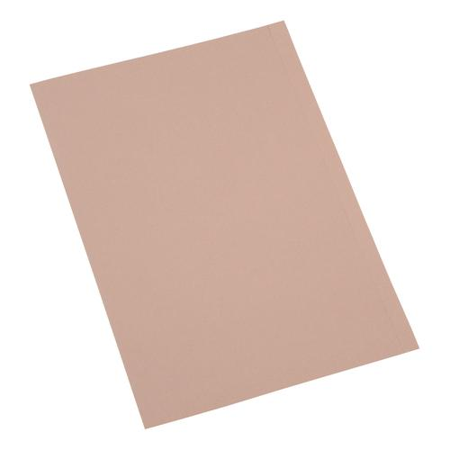 5 Star Office Square Cut Folder Recycled 180gsm Foolscap Buff [Pack 100]