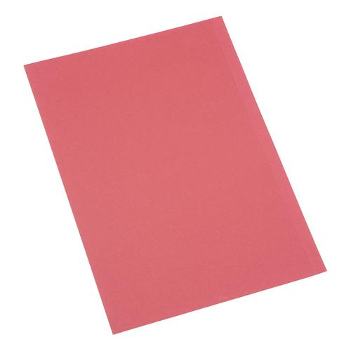 5 Star Office Square Cut Folder Recycled 180gsm Foolscap Red [Pack 100]