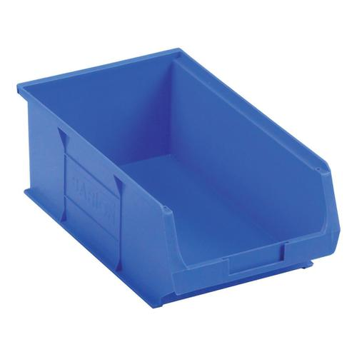 Container Bin Heavy Duty Polypropylene W350xD205xH132mm Blue [Pack 10]