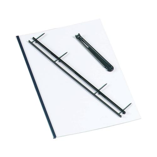 GBC Desktop Velobinder Binding Strips 45mm 4 Prongs Bind 200 Sheets A4 White Ref 9741639 [Pack 25]