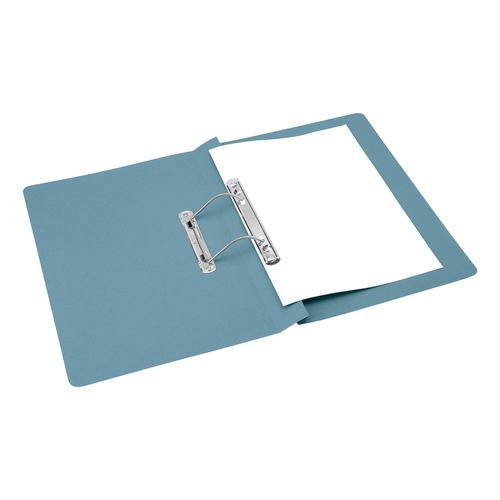 5 Star Office Transfer Spring File Mediumweight 285gsm Capacity 38mm Foolscap Blue [Pack 50]