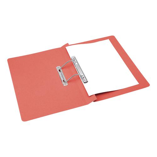5 Star Office Transfer Spring File Mediumweight 285gsm Capacity 38mm Foolscap Red [Pack 50]