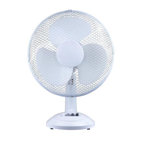 5 Star Facilities Desk Fan 16 Inch 90deg Oscillating with Tilt & Lock 3-Speed H600mm Dia.406mm White