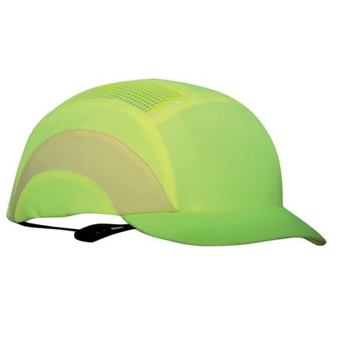 JSP Hard Cap A1 Plus Ventilated Adjustable with Short Peak 50mm HiVis Yellow Ref ABS000-001-500
