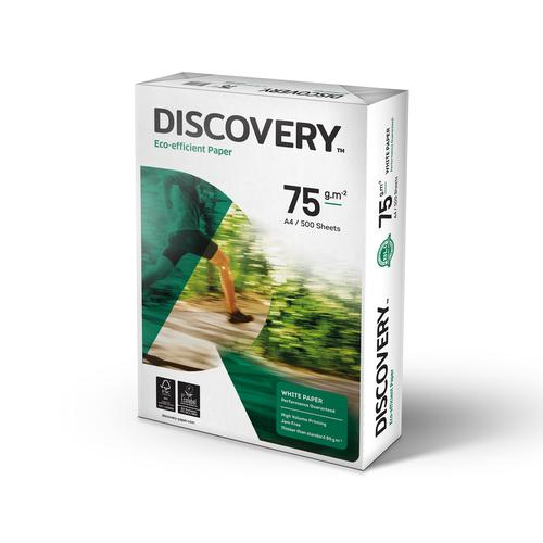 Discovery Paper FSC 5x Ream-wrapped Pks 75gsm A4 White [5x500 Sheets]