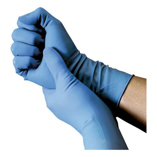 Nitrile Food Preparation Gloves Powder-free Medium Size 7.5 Blue [50 Pairs]