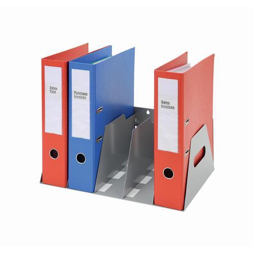 Lever Arch Filing Rack Portable Rigid Metal W410xD292xH160mm Grey