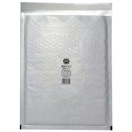 Jiffy Airkraft Bag Bubble-lined Peel and Seal Size 7 White 340x445mm Ref JL-7 [Pack 50]