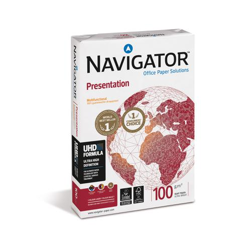Navigator Presentation Paper Ream-Wrapped 100gsm A4 Wht Ref NPR1000032 [500 Shts]