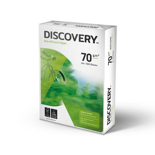 Discovery Paper FSC 5x Ream-wrapped Pks 70gsm A4 White Ref [5x500 Sheets]