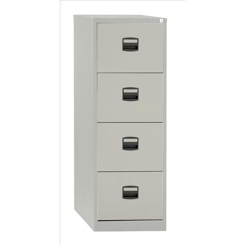 Trexus 4 Drawer Filing Cabinet 470x622x1321mm Goose Grey Ref 394976