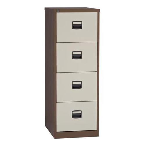 Trexus 4 Drawer Filing Cabinet 470x622x1321mm Coffee & Cream Ref