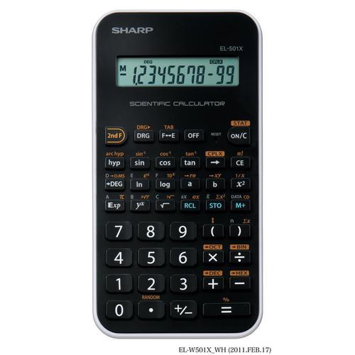Sharp Junior Handheld Scientific Calculator 10 Digit Battery Power 75x10x144mm Black Ref EL-501X