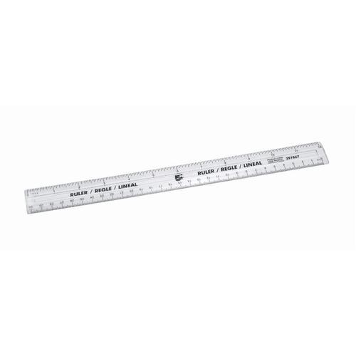 5 Star Office Ruler Plastic Metric and Imperial Markings 300mm Clear [Pack 10]