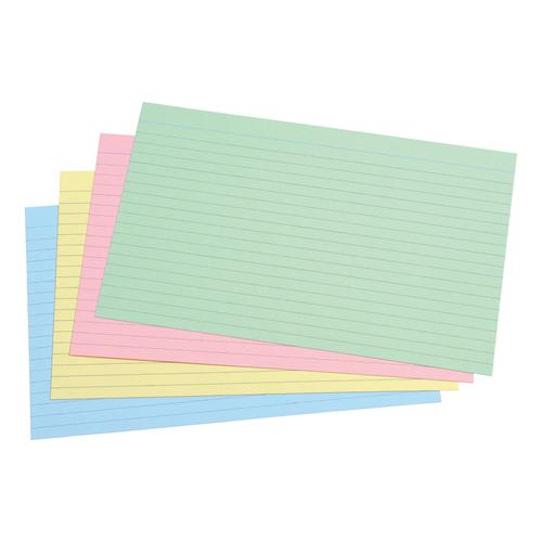 5 Star Office Record Cards Ruled Both Sides 8x5in 203x127mm Assorted [Pack 100]
