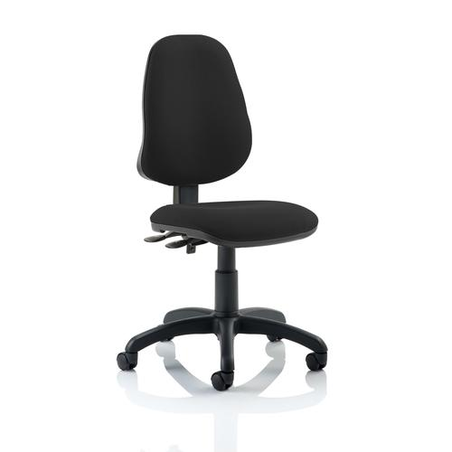 5 Star Office 2 Lever High Back Permanent Contact Operators Chair Black 480x450x490-590mm Ref OP000024