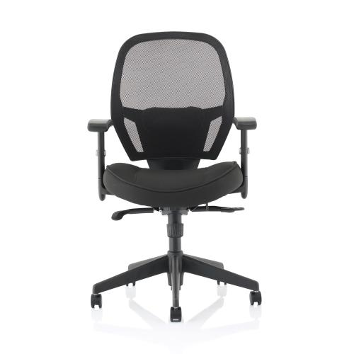 Trexus Amaze Synchronous Mesh Chair Black 520x520x470-600mm Ref 11186-02Black