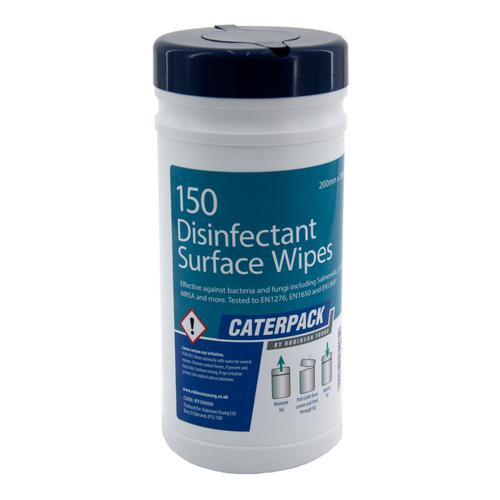 Robinson Young Caterpack Antibacterial Surface Wipes Medium 200x200mm Ref 30006 [150 Wipes]
