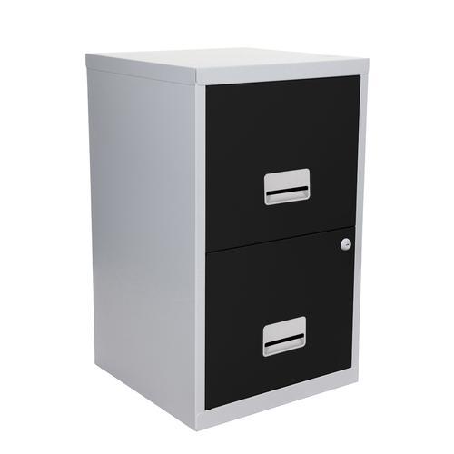 Filing Cabinet Steel 2 Drawer A4 400x400x660mm Ref 95808