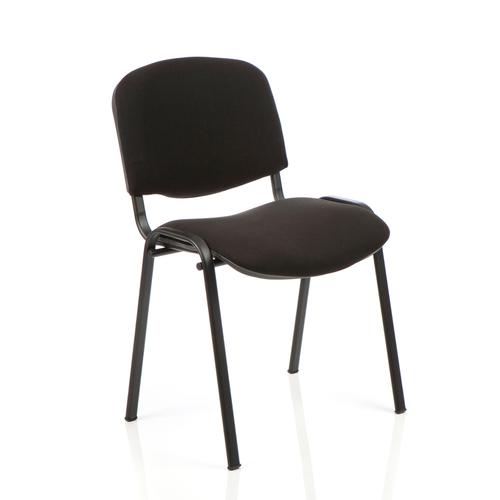 Trexus Stacking Chair Black Frame Black 470x420x500mm Ref SP438150