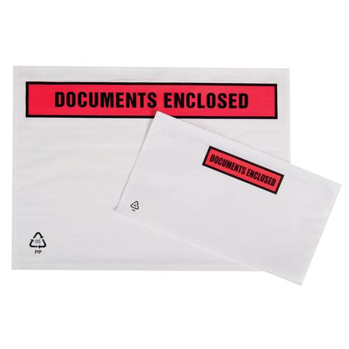 Packing List Document Wallet Polythene Documents Enclosed Printed Text A4/C4 318x325mm White [Pack 500]
