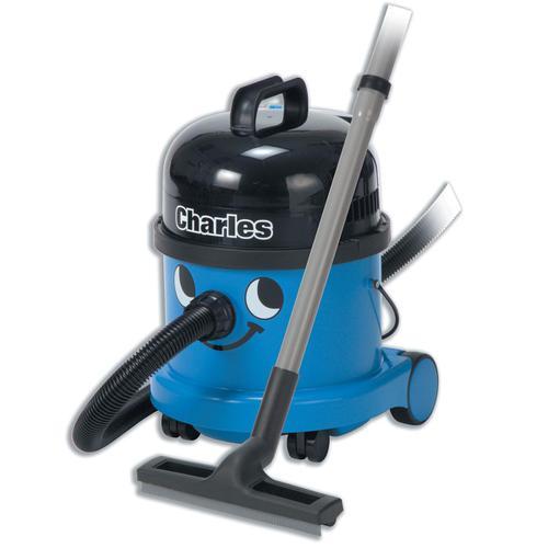 Numatic Charles Vacuum Cleaner Wet & Dry 1060W 15L Dry 9L Wet 9Kg W360xD370xH510mm Blue Ref 824615