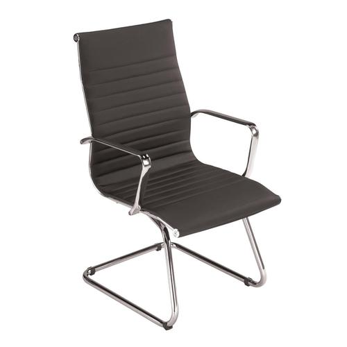 Trexus Breeze Visitors Armchair Back H400mm Seat 490x430x500mm Black Ref F7A
