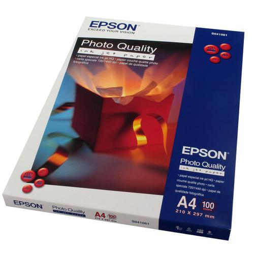 Epson Photo Quality Inkjet Paper Matt 102gsm Max.1440dpi A4 White Ref C13S041061 [100 Sheets]