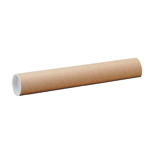 Postal Tube Cardboard with Plastic End Caps L1140xDia.102mm RBL10526 [Pack 12]
