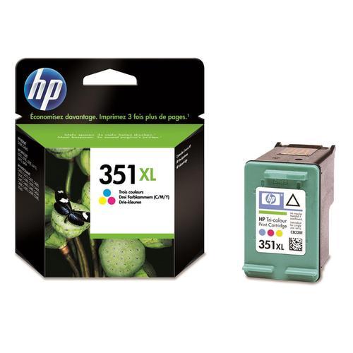 Hewlett Packard [HP] No.351XL Inkjet Cartridge High Yield Page Life 580pp 14ml Tri-Colour Ref CB338EE