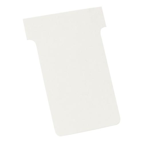 Nobo T-Cards 160gsm Tab Top 15mm W60x Bottom W48.5x Full H85mm Size 2 White Ref 2002002 [Pack 100]