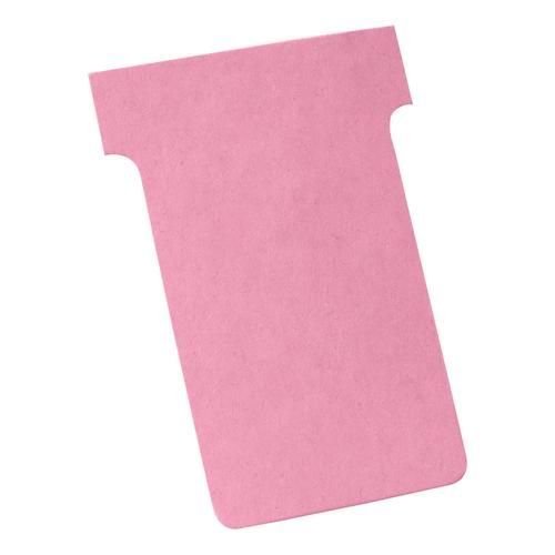 Nobo T-Cards 160gsm Tab Top 15mm W60x Bottom W48.5x Full H85mm Size 2 Pink Ref 2002008 [Pack 100]