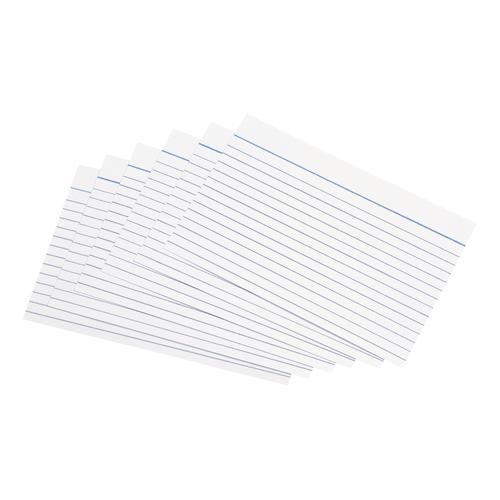 5 Star Office Record Cards Ruled Both Sides 6x4in 152x102mm White [Pack 100]