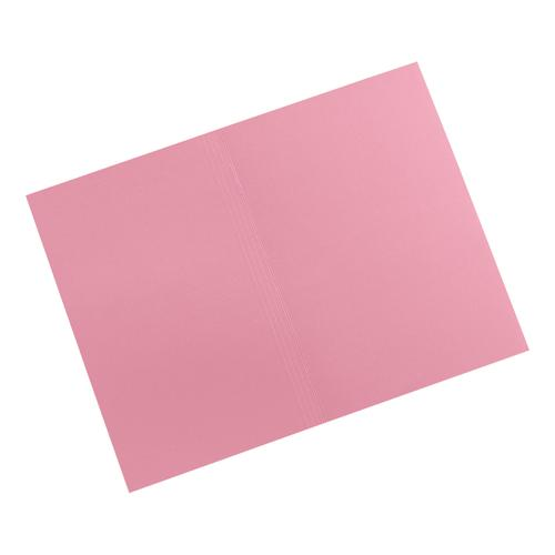 5 Star Elite Square Cut Folders 315gsm Heavyweight Manilla Foolscap Pink [Pack 100]