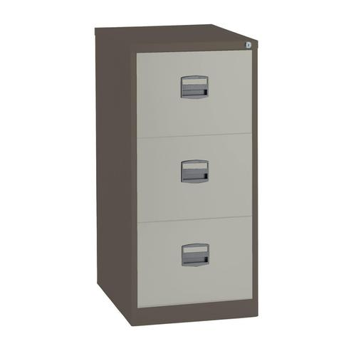 Trexus 3 Drawer Filing Cabinet 470x622x1016mm Coffee/Cream Ref