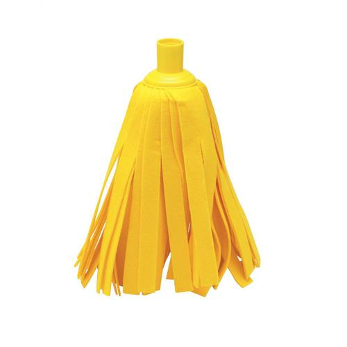 Addis Cloth Mop Head Refill Thick Absorbent Strands and Yellow Socket Ref 510525