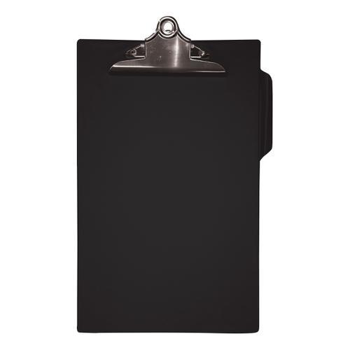 5 Star Office Clipboard PVC Finish Heavy Duty Foolscap Black