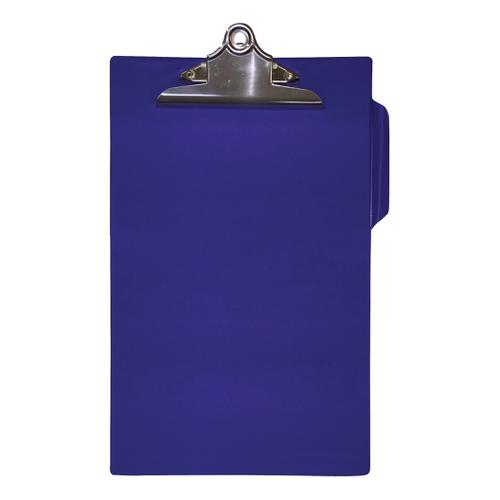 5 Star Office Clipboard PVC Finish Heavy Duty Foolscap Blue