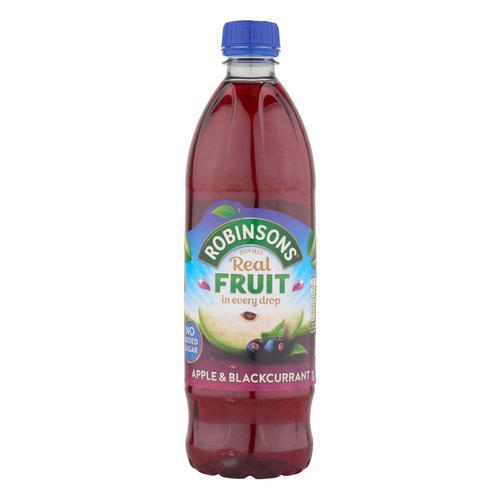Robinsons Squash No Added Sugar 1 Litre Apple & Blackcurrant Ref 0402013 [Pack 12]