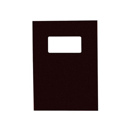 GBC Binding Covers Leatherboard Window 250gsm A4 Black Ref 46705E [Pack 25x2]
