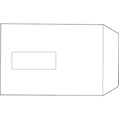 5 Star Value Envelopes Pocket Press Seal Window 100gsm White C5 229x162mm [Pack 500]