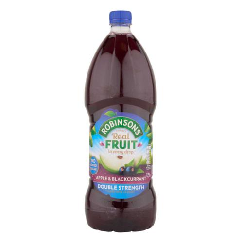 Robinsons Squash Double Concentrate No Added Sugar 1.75 Litres Apple & Blackcurrant Ref 200660 [Pack 2]