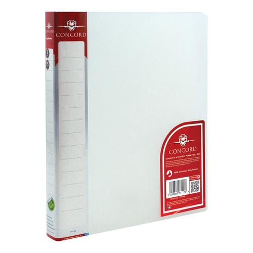 Concord Natural Ring BInder Polypropylene 2 O-Ring 15mm Size A4 Clear Ref 7117-PFL [Pack 10]