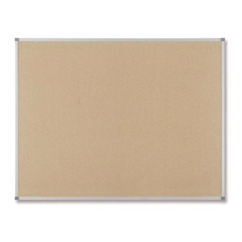 Nobo Classic Office Noticeboard Cork with Fixings and Aluminium Trim W900xH600mm Ref 30530320
