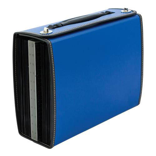 Concord Filing Case Polypropylene 26 Part Metal Twist-lock Foolscap Blue Ref 7107-PFL