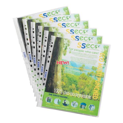 SSeco Pocket Polypropylene Oxo-biodegradable Top-opening 50 Micron A4 Glass Clear Ref PP50 [Pack 100]