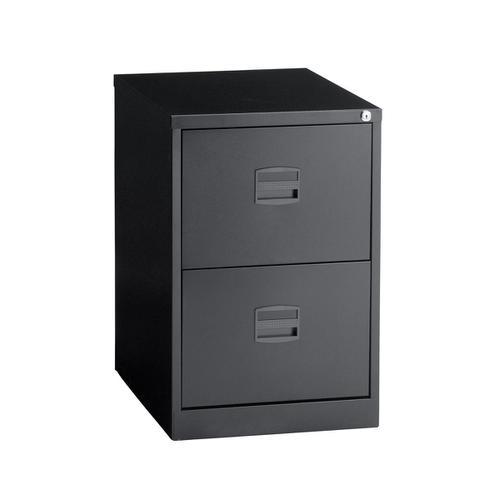 Trexus 2 Drawer Filing Cabinet 470x622x711mm Black Ref 632701