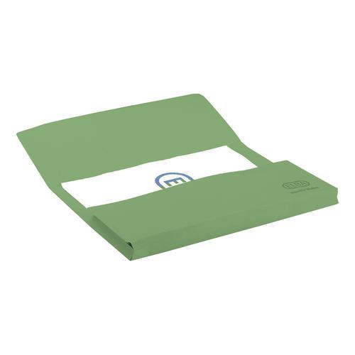 Elba StrongLine Manilla Document Wallet 320gsm 32mm Foolscap Green Ref 100090268 [Pack 25]